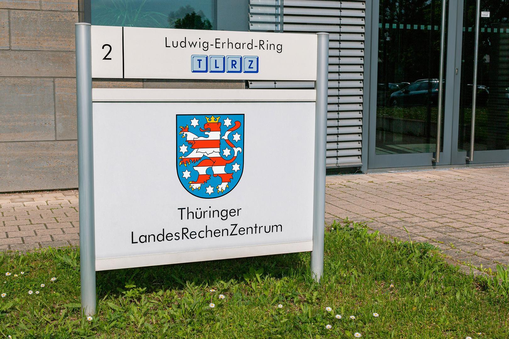 EIngang Thüringer Landesrechenzentrum